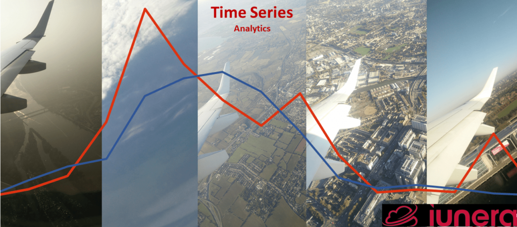 Time Series Analysis is measuring and analyzing how features and indicators change and relate over time. An airplane flight downto a landing visualizes together with a graph how indicators can change.