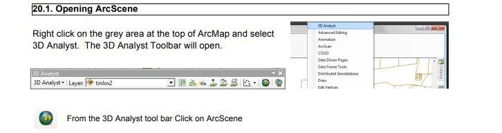 ArcScene for 3D geospatial data visualisation