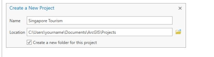 Creating a new project in ArcGIS Pro