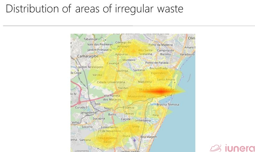 Distribution of areas of irregular waste