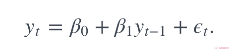Autoregressive equation simplified